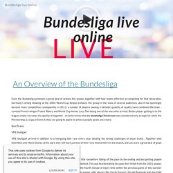 Bundesliga live online