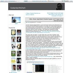 Böse: Grauer Kapitalmarkt Bundestrojaner & Co? Augen auf im Internetverkehr! - Shakal