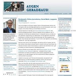 Bundeswehr, Online-Journalismus, Social Media: Langsame Annäherung