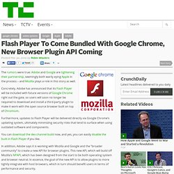 Flash Player To Come Bundled With Google Chrome, New Browser Plu
