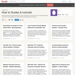 How to Guides & tutorials