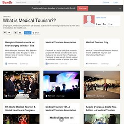 What is Medical Tourism??