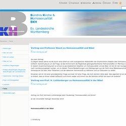 Texte : Bündnis Kirche und Homosexualität