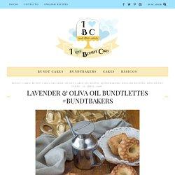 Lavender & Oliva Oil Bundtlettes #Bundtbakers
