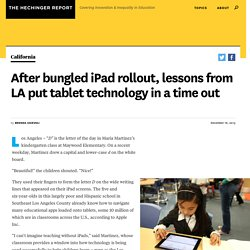 After bungled iPad rollout, lessons from LA put tablet technology in a time out