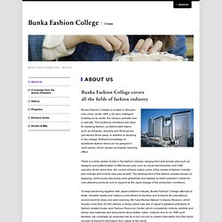 Bunka Fashion College|About Us