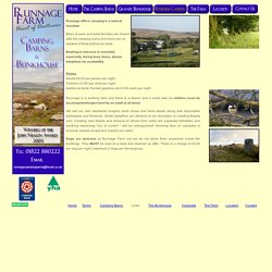 Runnage Farm, Camping Barns, Bunkhouse and campsite on Dartmoor