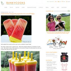 Watermelon Margarita Popsicles for Casual Friday