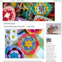 Crochet Hexagon Tutorial...... Part One