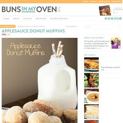 Buns In My Oven Applesauce Donut Muffins