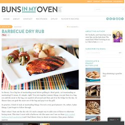 Barbecue Dry Rub — Buns In My Oven