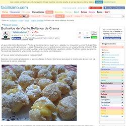 Buñuelos de Viento Rellenos de Crema
