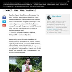 Buondí, metanarrazione - Roberto Gagnor