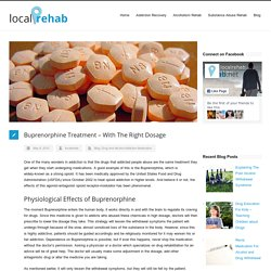 Buprenorphine Treatment - With The Right Dosage