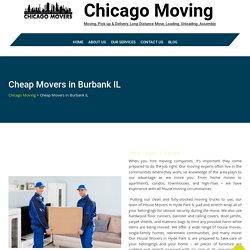 Cheap Movers in Burbank IL