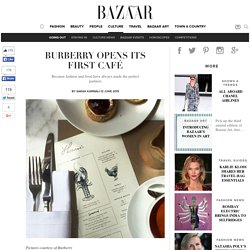 Burberry Cafe opens in London, Thomas's - 121 Regent Street