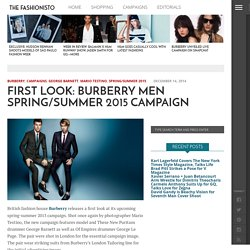 Burberry Men Spring/Summer 2015 Campaign