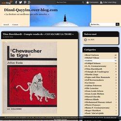 Titus Burckhardt - Compte rendu de « CAVALCARE LA TIGRE » - Dinul-Qayyim.over-blog.com
