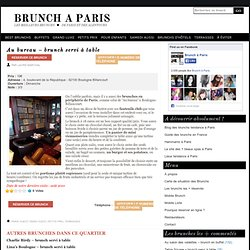 Au bureau – brunch servi à table – 18