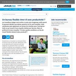 Un bureau flexible rime-t-il avec productivité ?