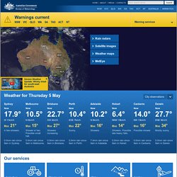 Australian Bureau of Meteorology - Home Page