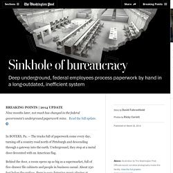 Sinkhole of bureaucracy