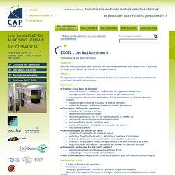 Formation bureautique Nantes, perfectionnement Excel