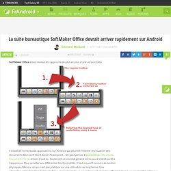 La suite bureautique SoftMaker Office devrait arriver rapidement sur Android « FrAndroid Communauté Android