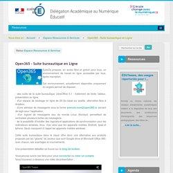 Open365 - Suite bureautique en Ligne - Espace Ressources & Services - DANE Nice