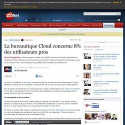 La bureautique Cloud concerne 8% des utilisateurs pros