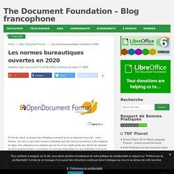 Les normes bureautiques ouvertes en 2020 - The Document Foundation - Blog francophone