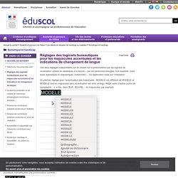 Numérique et handicap - Réglages des logiciels bureautiques pour les majuscules accentuées et les indications de changement de langue