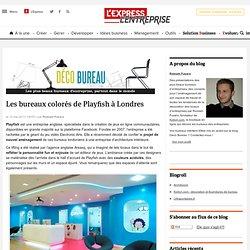 Les bureaux colorés de Playfish à Londres
