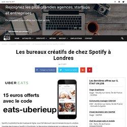 Les bureaux créatifs de chez Spotify à Londres