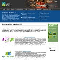 Liste de partenaires - Bureaux d'études environnement