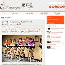 Les vélos-bureaux : quels effets sur la performance cognitive?
