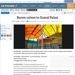 Culture : Buren colore le Grand Palais