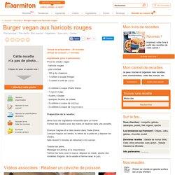 Burger vegan aux haricots rouges : Recette de Burger vegan aux haricots rouges