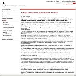 PARLEMENT SUISSE 10/03/14 Le burger aux insectes met les parlementaires d'accord