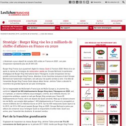 Burger King vise les 2 milliards de CA en France en 2020