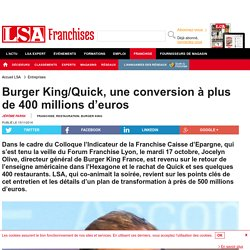 Burger King/Quick, une conversion à plus de 400 millions d'euros