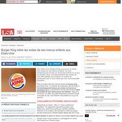 Burger King retire les sodas de ses menus...