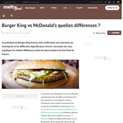 Burger King vs McDonald's quelles différences