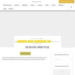 Burger oriental