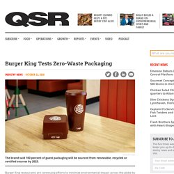 Burger King Tests Zero-Waste Packaging