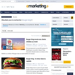 burger king - Recherche sur e-marketing.fr - Page 1