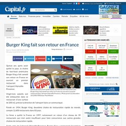 Burger King fait son retour en France