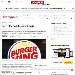 Burger King est de retour à Paris