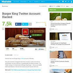 Piratage : Burger King Twitter Account Hacked