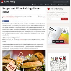 Burger and Wine Pairings Done Right